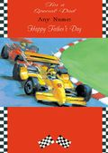 Add A Name Father's Day-Racing Cars